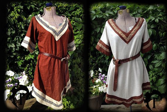 Personnalisable femmes Viking tunique, médiéval, fantasy, trim, larp, larping, cosplay costume