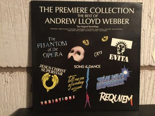 The Premier Collection The Best Of Andrew Lloyd Webber LP Vinyl Musical ALWTV1 Music:Records:Albums/ LPs:Soundtracks/ Themes:Musicals