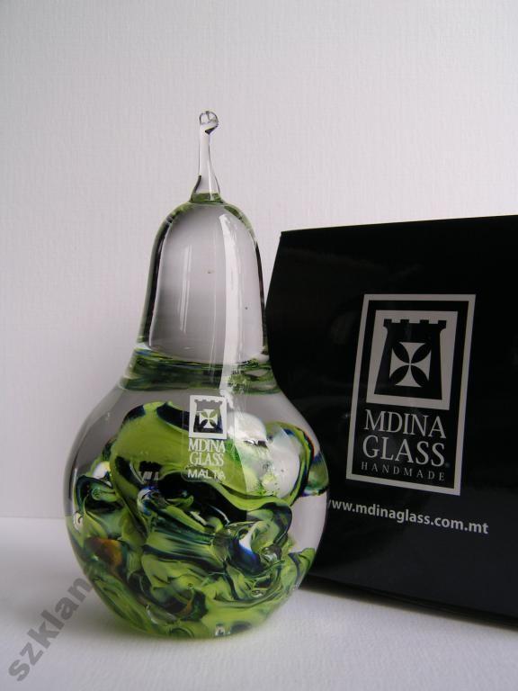 Gruszka figurka szklana Mdina Glass PROMOCJA -17%