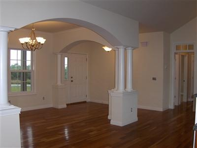 215 Bridle Ct, Dry Ridge, KY 41035. Arches to designate dining room,