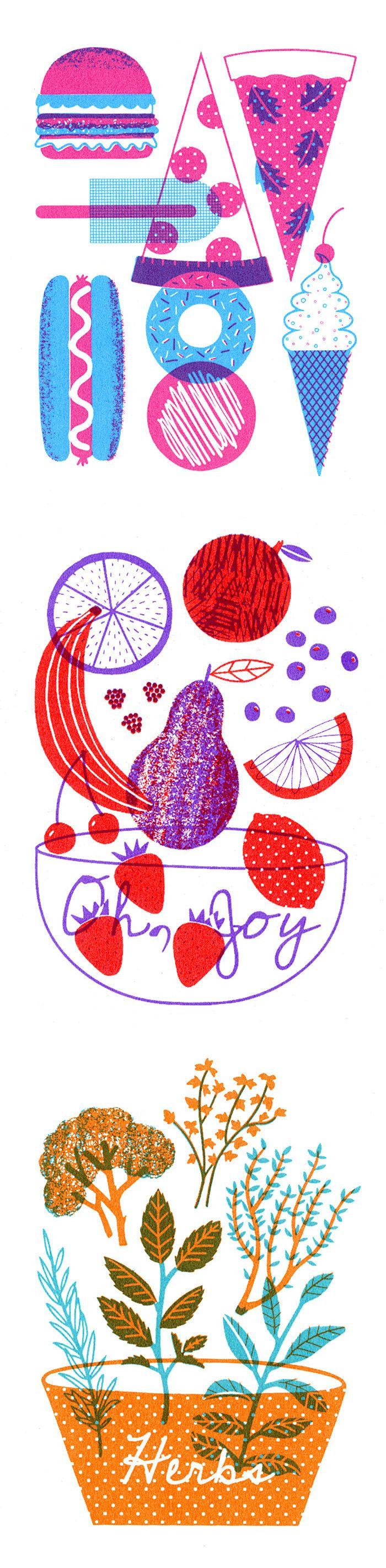 Boyoun Kim love the simple food illustration style
