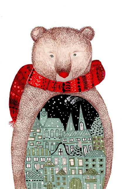 A fine art print entitled City Bear by Cristina Barsony!