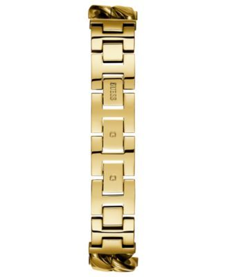 Guess Women's Gold-Tone Stainless Steel Chain Bracelet Watch 28x28mm - Gold