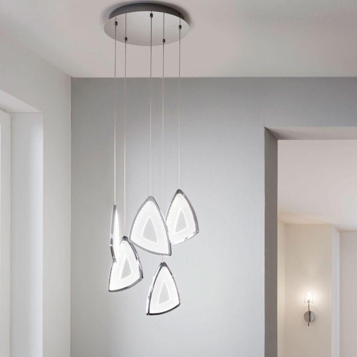 Schön Emblem Futuristische LED Hängeleuchte / Chrom U0026 Satiniert 46839