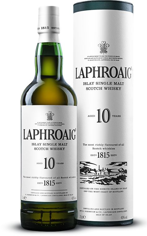 Laphroiag is a traditional Single Malt Scotch that encompasses the fantastic taste of peat and seaweed. With it's full and bountiful taste it's one of the Scotches that we keep in the office.