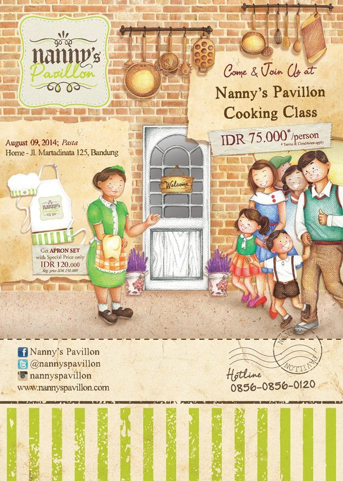 Come and join Pasta Cooking Class on August 9, 2014 at Nanny's Pavillon Home, Bandung.