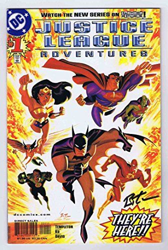 Justice League Adventures #1 VF/NM- signed w/COA Bruce Timm 2002 DC Comics //Price: $99.95 & FREE Shipping //     #starwarscollection