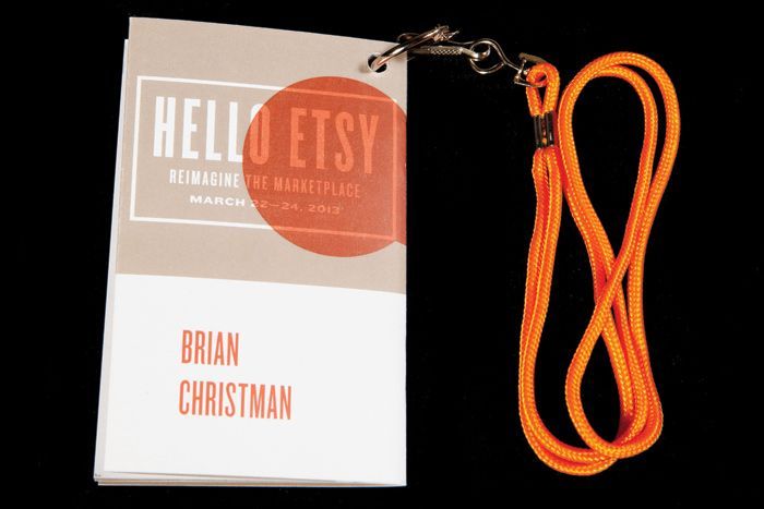 For its first New York conference, Etsy created compact booklet-style programs that doubled as badges.