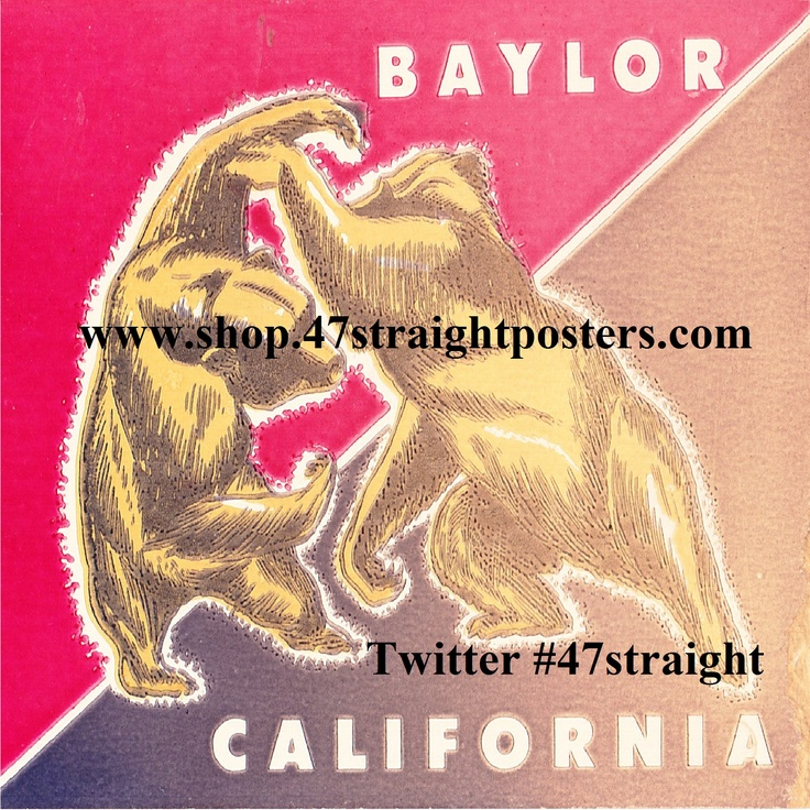 Father's Day Gift Ideas for football fans. Available soon. Vintage Baylor Bears vs. California Bears Football Ticket Coasters.™ Best Father's Day Gifts 2015.