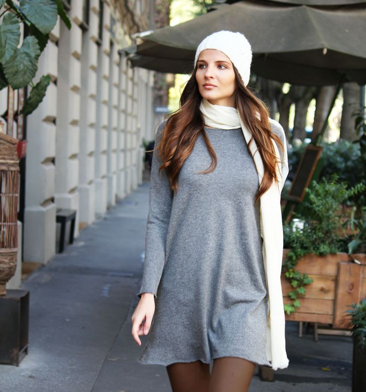 This season it item; the knitted dress. Our version is made of 100% Cashmere and is as soft as stylish and comfy!