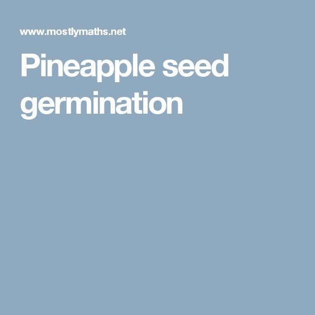 Pineapple seed germination