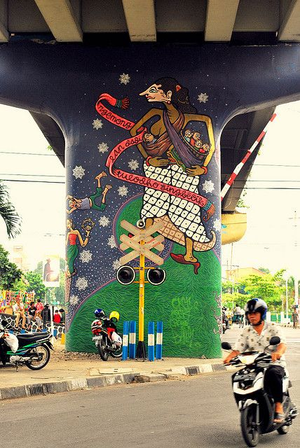 1000 images about street art indonesia on pinterest for Mural yogyakarta