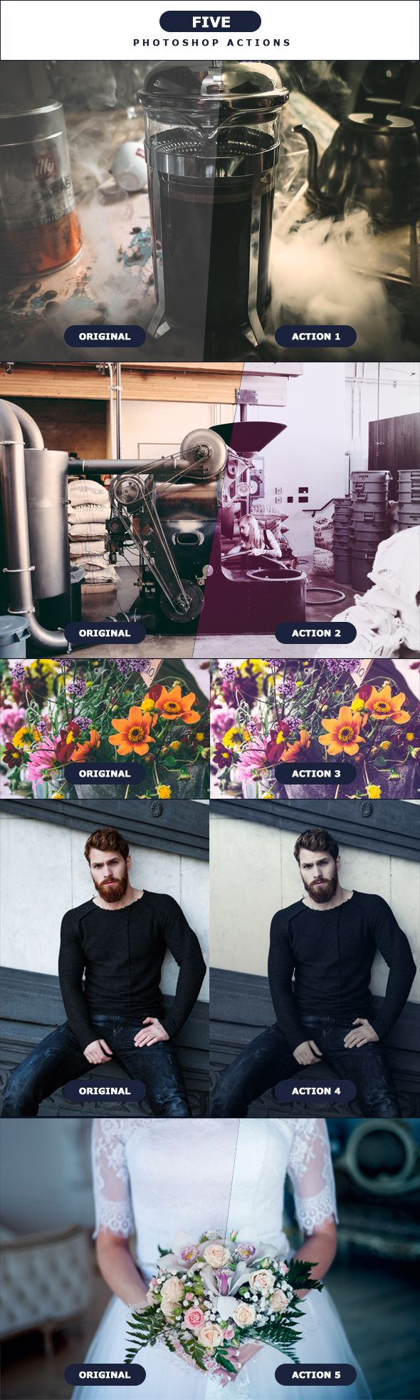 FIVE - Photoshop Actions 4 - Photo Effects Actions