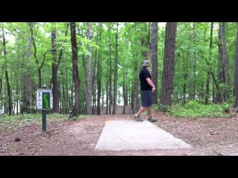 Boys playing Disc Golf