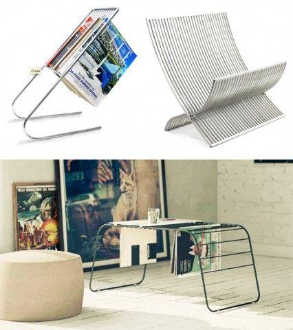 tijdschriftrek en tafel ineens