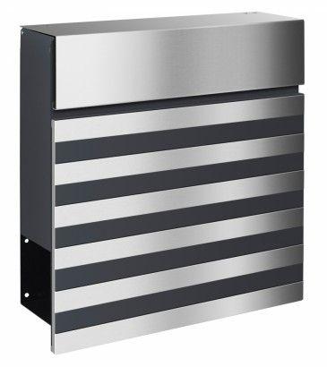 Frabox Design Briefkasten NOVE Stahl lackiert / Edelstahl von frabox - MK-DB1080-VA-RAL-GLAENx online kaufen in unserem Shop   www.bruh.de