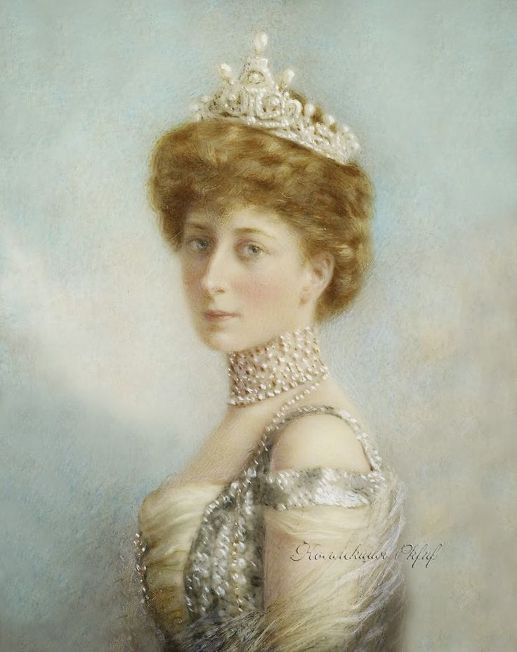 ca. 1905 Maud by William & Daniel Downey (Royal Collection) From arrayedingold.blogspot.com/2014_01_01_archive