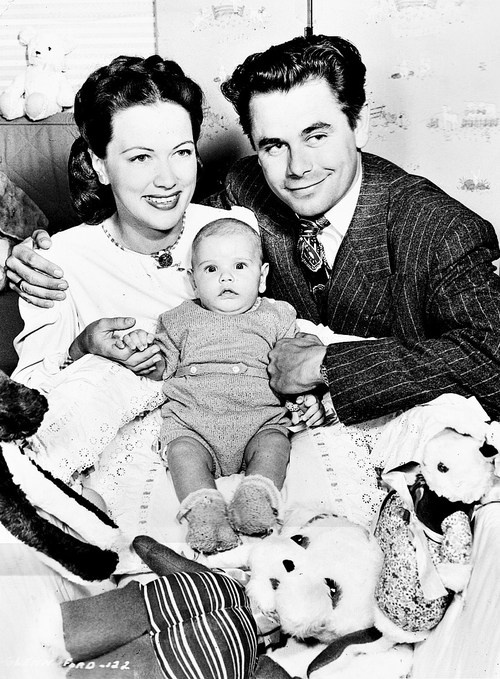 Glenn Ford and Eleanor Powell with their two-and-a-half-months-old son, Peter Newton,
