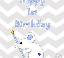 Happy 1st Birthday Mouse Card by Michelle *