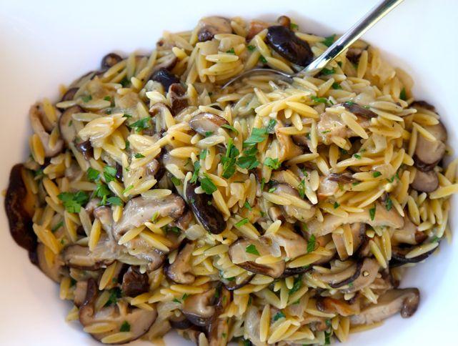 Orzo with Shiitake Mushrooms Recipe