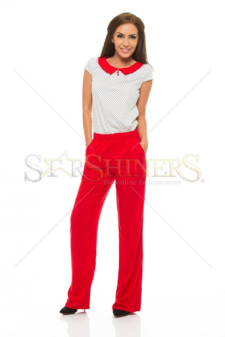 Fofy Dreamy Dots Red Jumpsuit