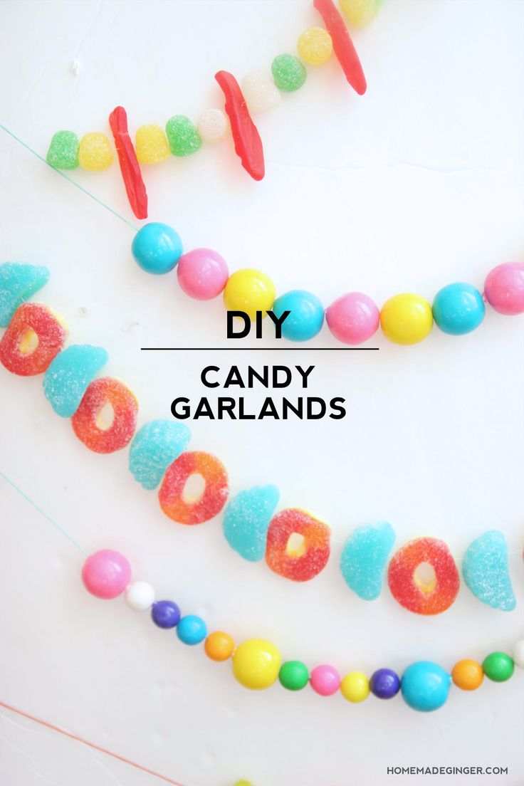 Christmas crafts to make at home - How To Make A Candy Garland