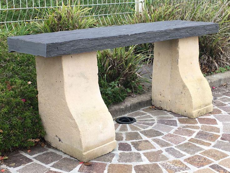 26 best Banc ancien de jardin   Antique bench images on Pinterest - banc en pierre pour jardin