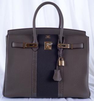 Limited Edition Hermès #Birkin Bag 35cm Etain Gold Hardware