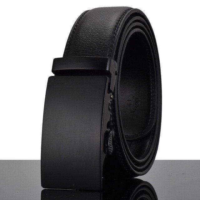 Men Automatic Buckle Leather Belt