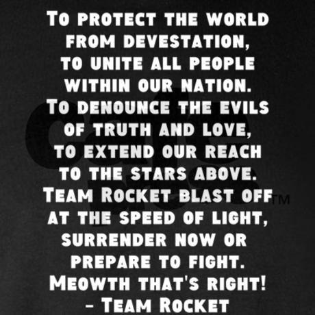 Team rocket anthem on CafePress.com