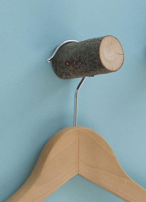 DIY: Maak kapstokjes van takken / www.woonblog.be