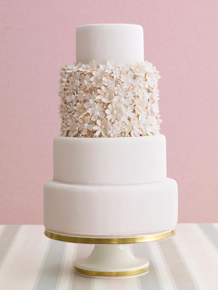 Pinned by www.theglasshousegirls.com Check out our online magazine for our Wedding Fortnight 14-28 July 2015! Cheryl Kleinman Cakes flower wedding cake