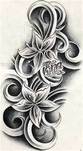 Would love this from the bottom of my shoulder blade, down ribs and finishing on front of hip. With names of family members along swirls / petals <3