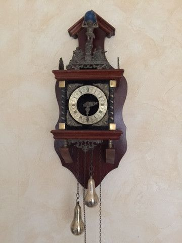 West German Mahogany (Dark Wood) Wall Clock - Spares & Repairs