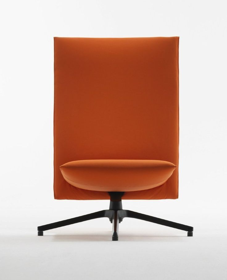 Knoll continues its collaboration with Edward Barber & Jay Osgerby - The new Pilot Chair at iSaloni #orange @knolldesign