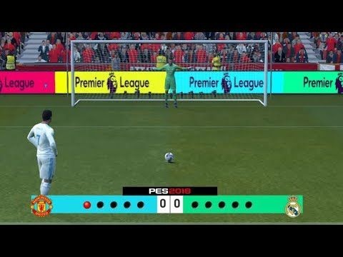 PES 2018   Manchester United vs Real Madrid   Full Match Penalty