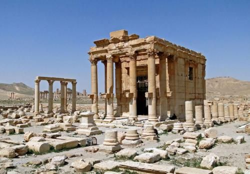 """The temple of Baal. Palmyra Syria 1 Kings 18:25 Elijah said to the prophets of Baal, """"Choose one of the bulls and prepare it first, since there are so many of you. Call on the name of your god, but do not light the fire."""""""