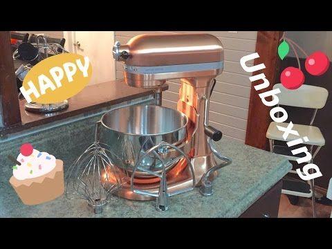Refurbished KitchenAid 600 6 quart Bowl Lift stand mixer in Satin Copper 575 watt Unboxing - YouTube