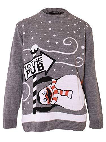 321c3e9803 Womens Christmas Jumper Ladies Knitted Santa Snowman Rudolf Reindeer Print  Merry Xmas Snowflake Elf Cardigan Knitwear