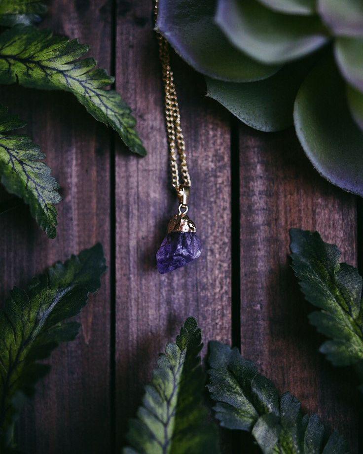 Golden Dipped Amethyst Stone Necklaces -Rose Quartz Amethyst Opalite Blue Sandstone Reiki Chakra Boho Bohemian Hippie Tumblr Chokers Jewelry by SavannahAvril on Etsy