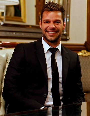 Ricky Martin. My cousin went to school with him in Puerto Rico growing up