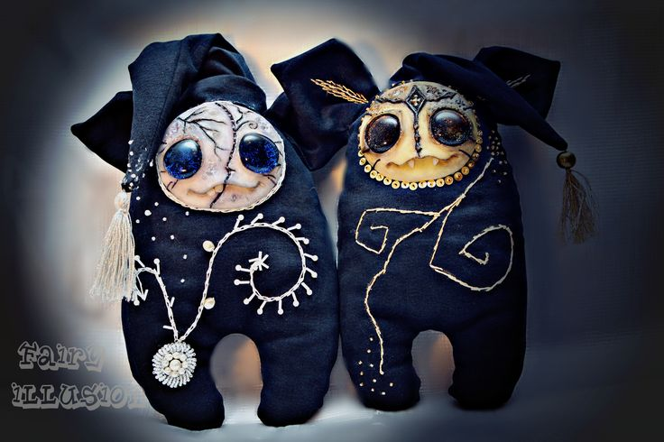 Cute and crazy monster doll, a fairy creature from Fairy-Illusion. Handmade, author's doll.