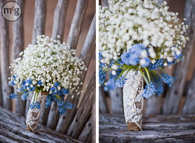 490 best bluebell bride images on pinterest casamento wedding babys breath with blue bells lace and burlap mightylinksfo Gallery