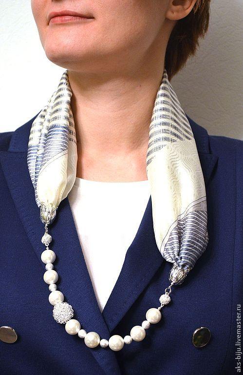 Сollana di sciarpe di seta — Колье из шелковых платков