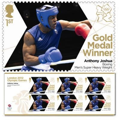 Gold Medal Winner stamp - Anthony Joshua, Boxing, Men's Super Heavy Weight