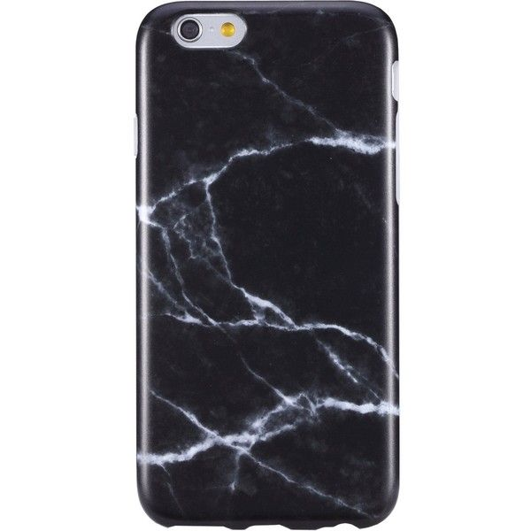 Amazon.com: iPhone 6 Plus Case for Men,Black Marble design, VIVIBIN... ($8.98) ❤ liked on Polyvore featuring men's fashion, men's accessories and men's tech accessories