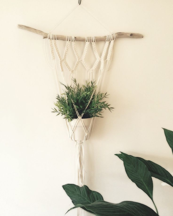 Macrame Plant Hanger, Macrame, Plant Hanger, Modern Macrame, Weaving, Indoor Planter, Wall Hanging by MacrameAdventure on Etsy https://www.etsy.com/listing/269672192/macrame-plant-hanger-macrame-plant