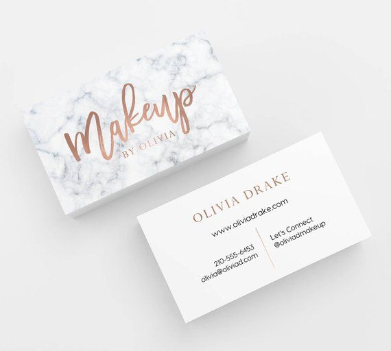 Marble Rose Gold Faux Foil 500 Business Cards Printed Business Card Template Personaliz Esthetician Business Cards Makeup Business Cards Salon Business Cards