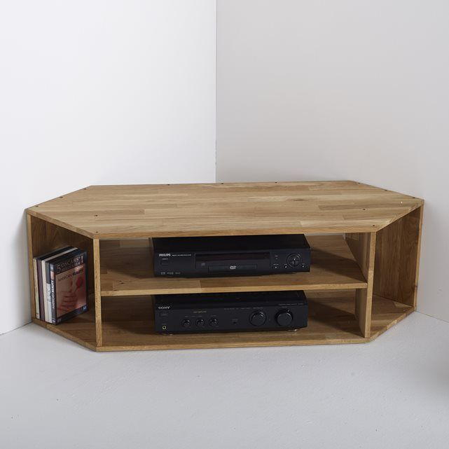 EDGAR Solid Oak Corner TV Unit La Redoute Interieurs                                                                                                                                                                                 More