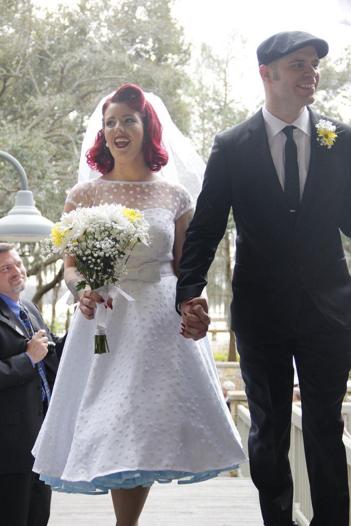 Crinoline, Coca-Cola, and an Adam Sandler first dance at Rebekah & Jerry's rockabilly wedding